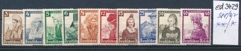 D.-Reich Nr. 588-97     (ed3429  ) siehe scan