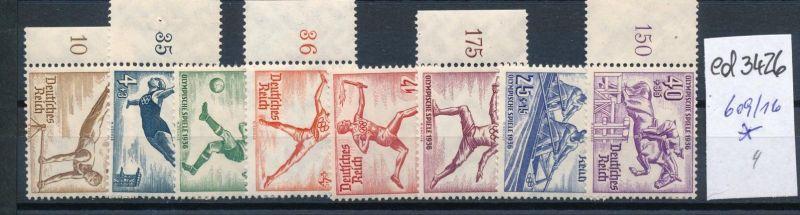 D.-Reich Nr. 609-16       (ed3426  ) siehe scan