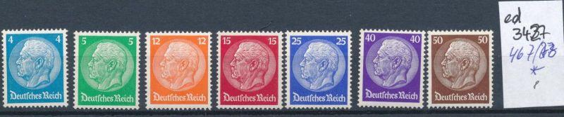 D.-Reich Nr. 467-73  *      (ed3427  ) siehe scan