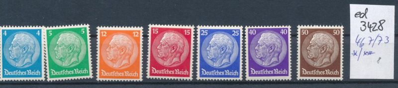 D.-Reich Nr. 467-73  *      (ed3428  ) siehe scan