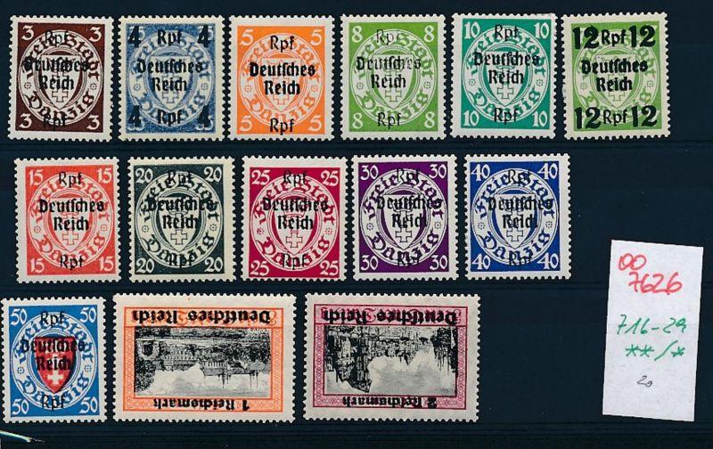 D.-Reich Nr 716-29      (oo7626 ) siehe scan