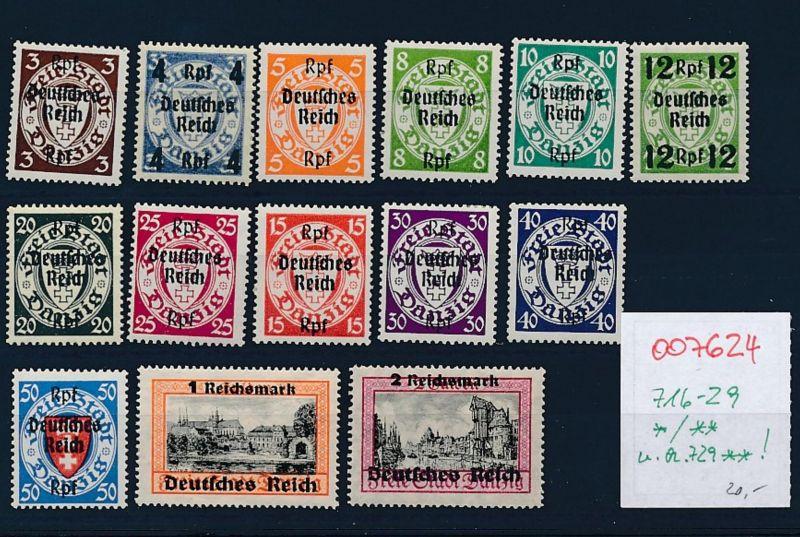 D.-Reich Nr 716-29      (oo7624 ) siehe scan