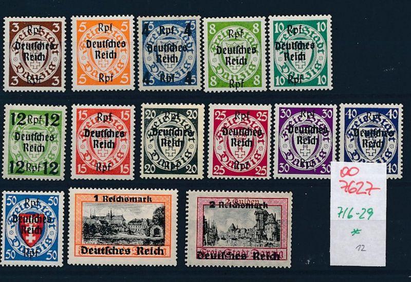 D.-Reich Nr 716-29      (oo7627 ) siehe scan