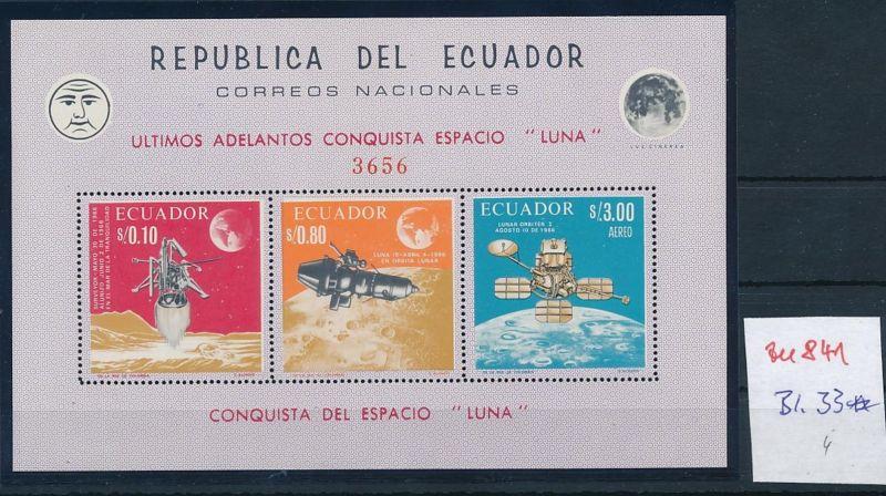 Ecuador Block 33 **    (zu841  ) siehe scan