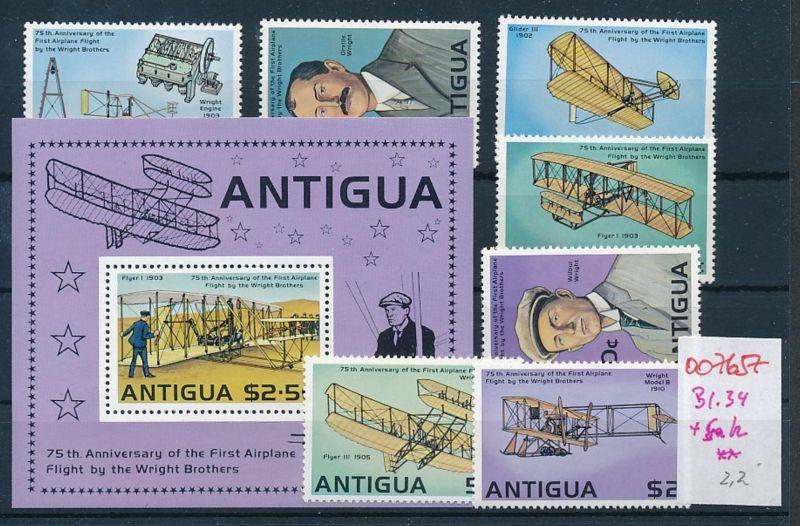 Flugzeuge -Antigua-Lot **    (oo7657  ) siehe scan