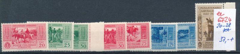 Italien Kolonien Nr. 20-28  **  (ee6724  ) siehe scan