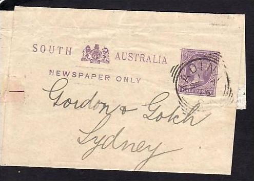 Australien Streifband alte Ganzsache  (m9943  ) siehe scan