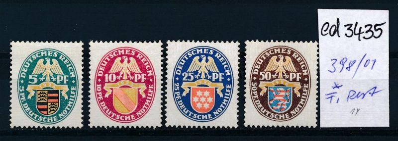 D.-Reich Nr. 398-01  *   (ed3435  ) siehe scan