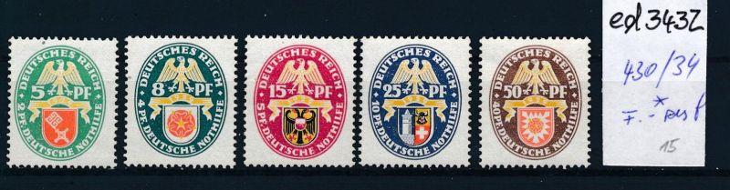 D.-Reich Nr. 430-4    *   (ed3432  ) siehe scan