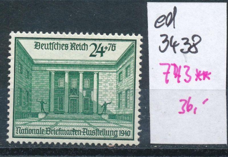 D.-Reich Nr. 743  **    (ed3438  ) siehe scan