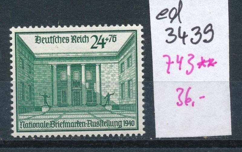 D.-Reich Nr. 743  **    (ed3439  ) siehe scan