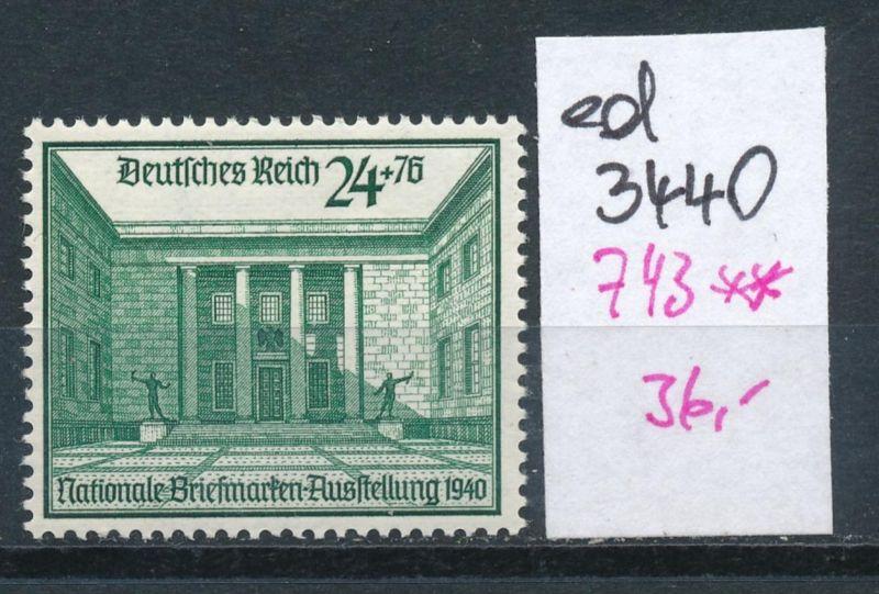 D.-Reich Nr. 743  **    (ed3440  ) siehe scan