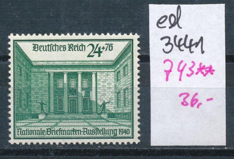 D.-Reich Nr. 743  **    (ed3441  ) siehe scan