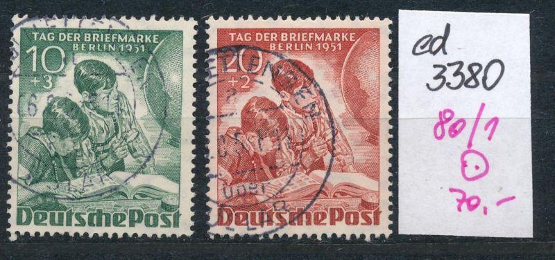 Berlin Nr. 80-81  o  (ed3380  ) siehe scan