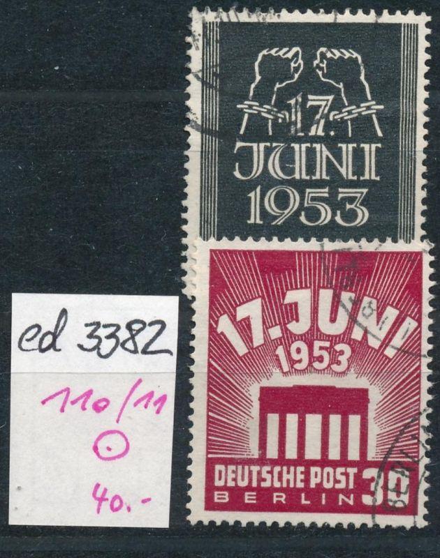 Berlin Nr. 110-11  o  (ed3382  ) siehe scan