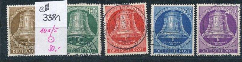 Berlin Nr. 101-5  o  (ed3381  ) siehe scan