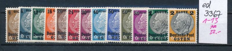 Generalgouverment Nr.1-15     **  (ed3367  ) siehe scan