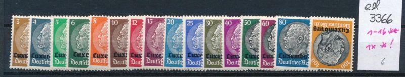 Luxemburg  Nr.1-16     **  1x *  (ed3366  ) siehe scan