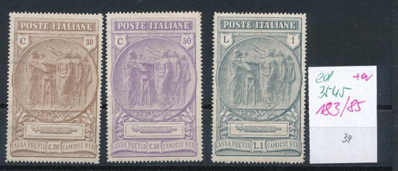 Italien Nr. 183-85    (ed3545  ) siehe scan