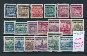 Böhmen + Mähren 1-19 * signiert  (oo7677  ) siehe scan