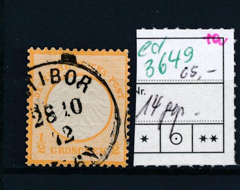 D.-Reich Nr. 14  o   (ed3649  ) siehe scan