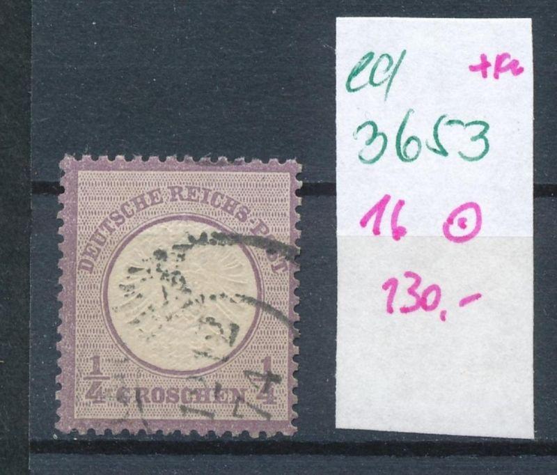 D.-Reich Nr. 16 o   (ed3653  ) siehe scan