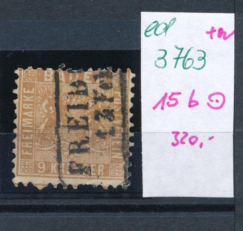 Baden Nr. 15 b   o     (ed3763  ) siehe scan