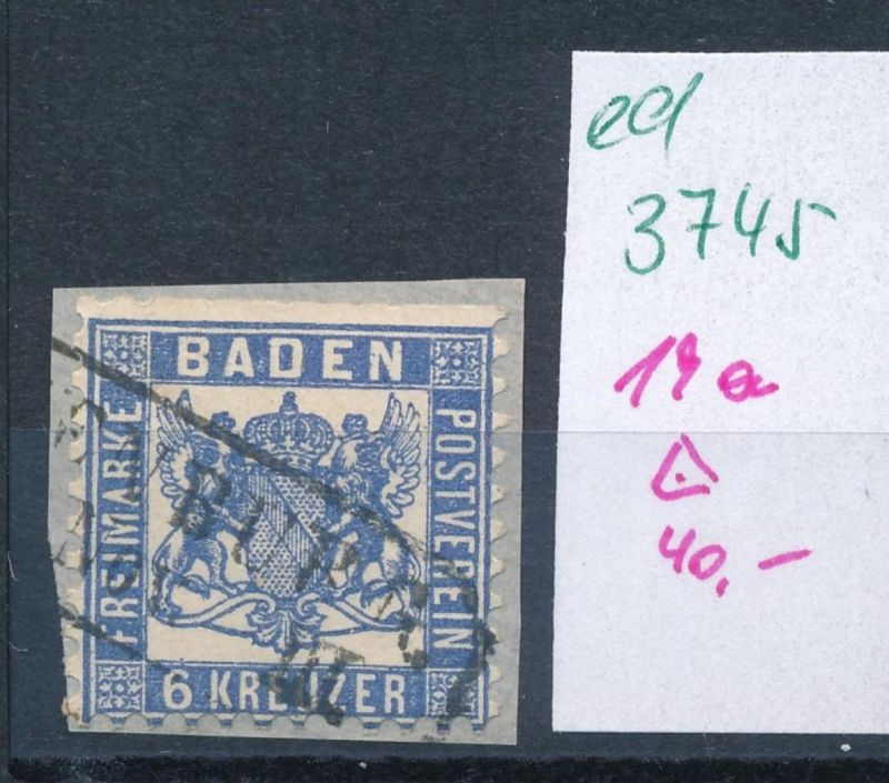 Baden Nr. 19a   o     (ed3745  ) siehe scan