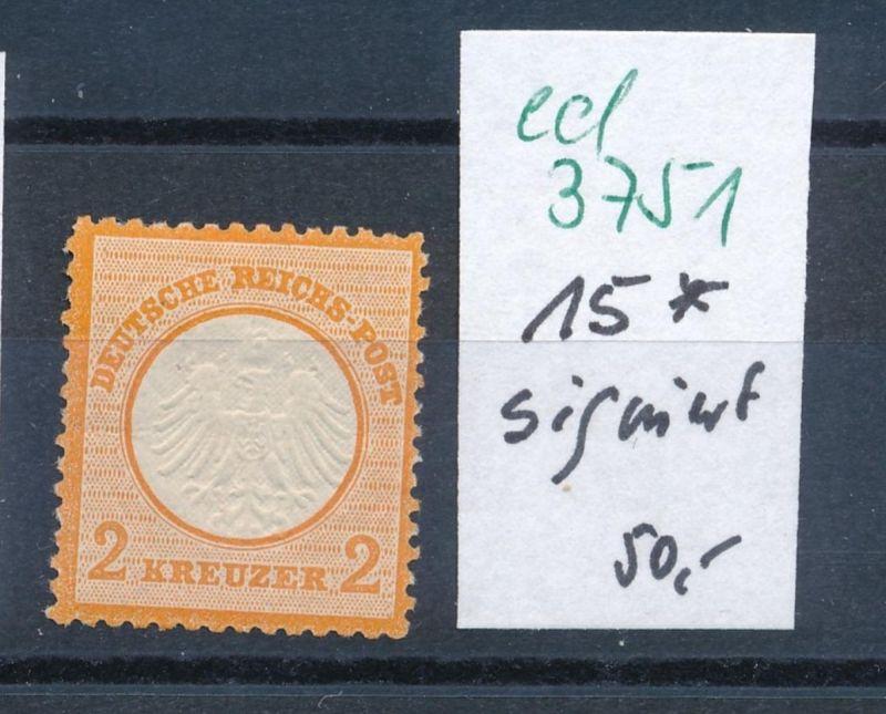 D.-Reich Nr. 15 *    (ed3751  ) siehe scan