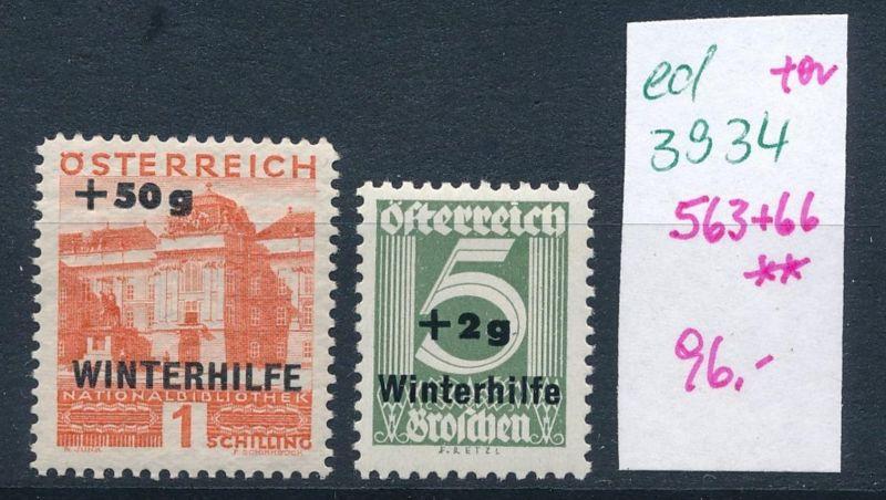 Österreich  Nr. 563+66   ** (ed3934  ) siehe scan
