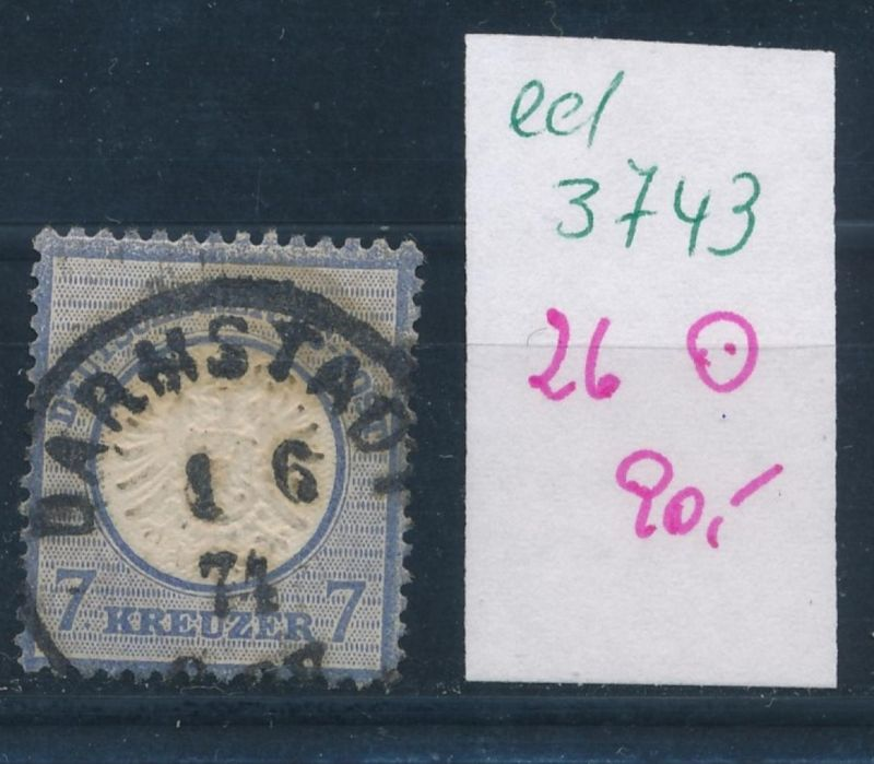 D.-Reich Nr. 26 o  (ed3743  ) siehe scan