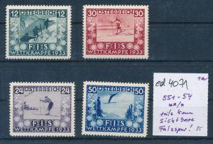 Österreich Nr. 551-54 teils kaum sichtbare Falzspur   (ed4071   ) siehe scan
