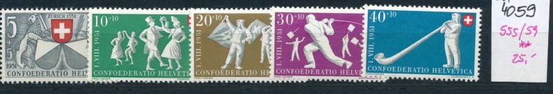 Schweiz  Nr. 555-59    **   (ed4059  ) siehe scan