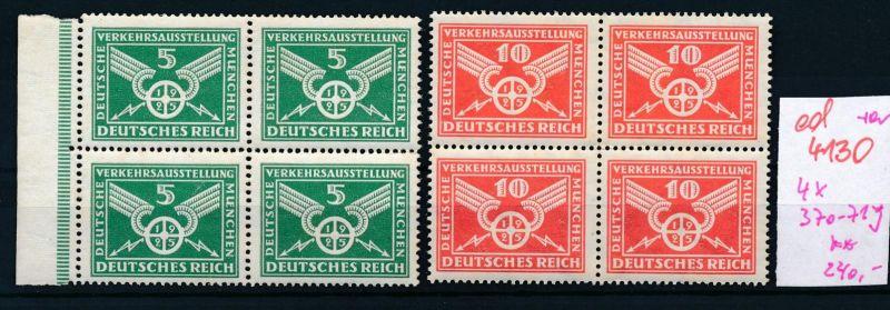 D.-Reich Nr. 4x 370-71y  ** (ed4130  ) siehe scan