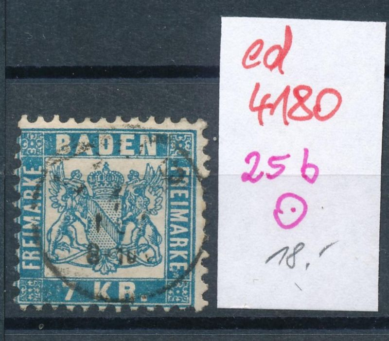 Baden Nr. 25 b  (ed4180  ) siehe scan