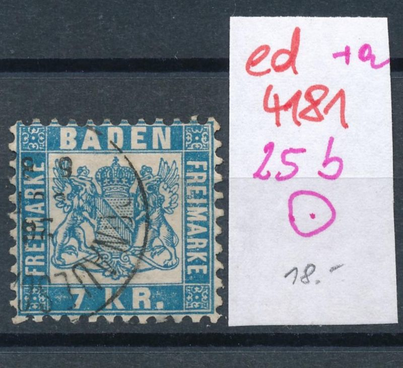 Baden Nr. 25 b  (ed4181  ) siehe scan