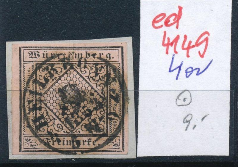 Würtemberg Nr. 4a   o   (ed4149  ) siehe scan