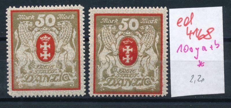 Danzig Nr. 100 y a+b *   (ed4168  ) siehe scan