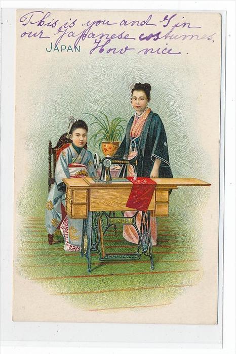 Frauen Japan   -Karte  (da3594 ) über 100 Jahre alt !!