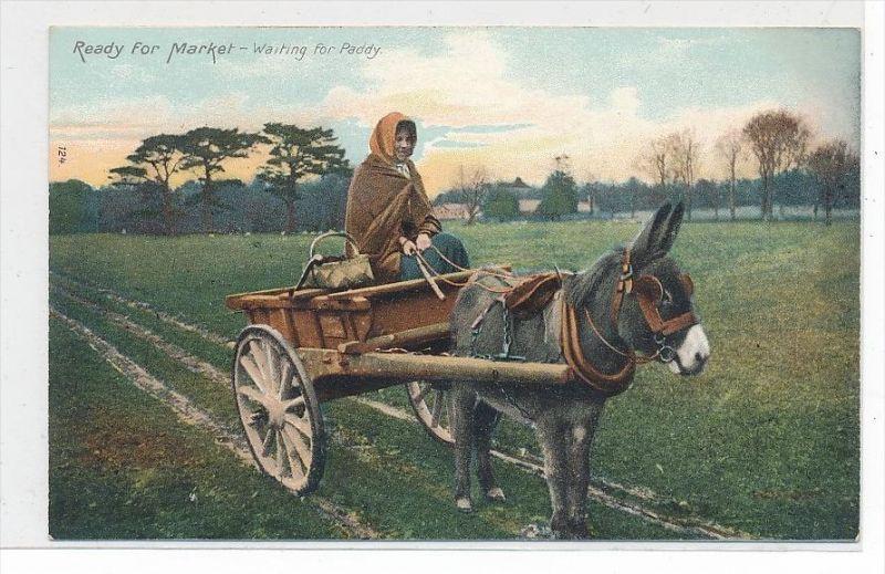 Frauen  Irland   -Karte  (da3546 ) über 100 Jahre alt !!