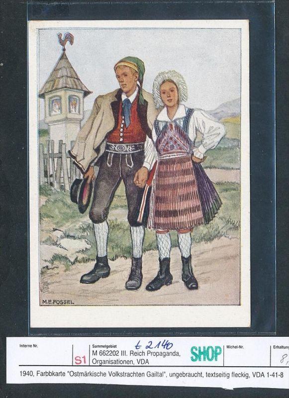 Propaganda   Karten  -VDA  -Ostmark Tracht  - ungebraucht( t2140 ) siehe scan