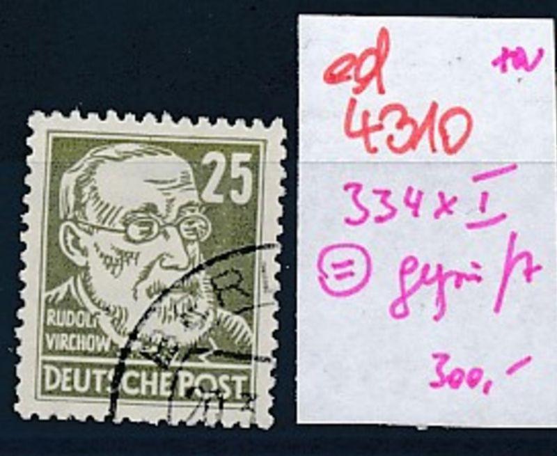 DDR Nr. 334x I signiert    (ed4310  ) siehe scan