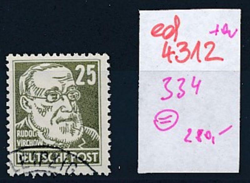DDR Nr. 334 o   (ed4312  ) siehe scan
