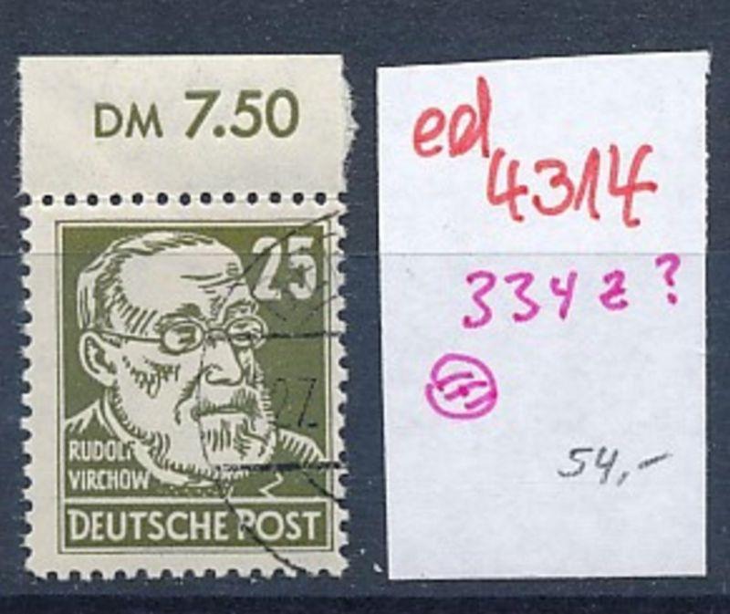 DDR Nr. 334  o  (ed4314  ) siehe scan