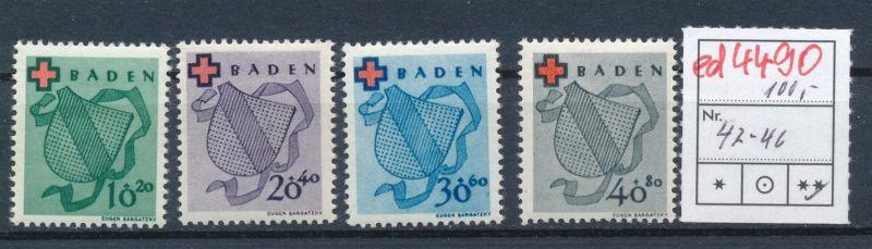 Baden  Nr. 42-6     **    (ed4490  ) siehe scan