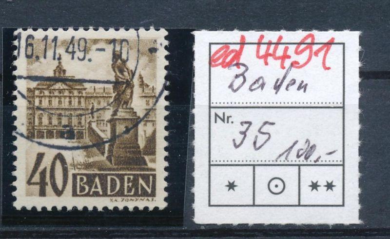 Baden  Nr. 35  o  (ed4491  ) siehe scan