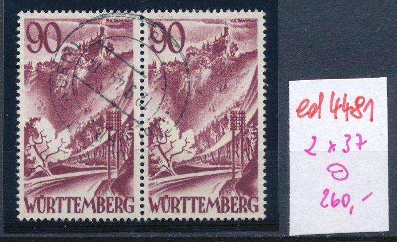 Würtemberg  Nr.2x 37    o  (ed4481  ) siehe scan