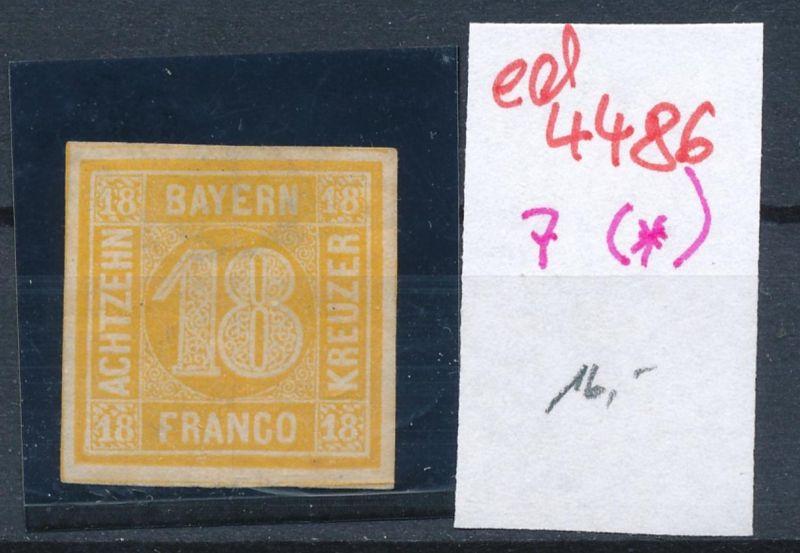 Bayern  Nr. 7 (*)   (ed4486  ) siehe scan