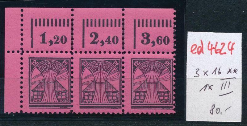 SBZ Nr. 3x 16 ** 1x III    (ed4624  ) siehe scan