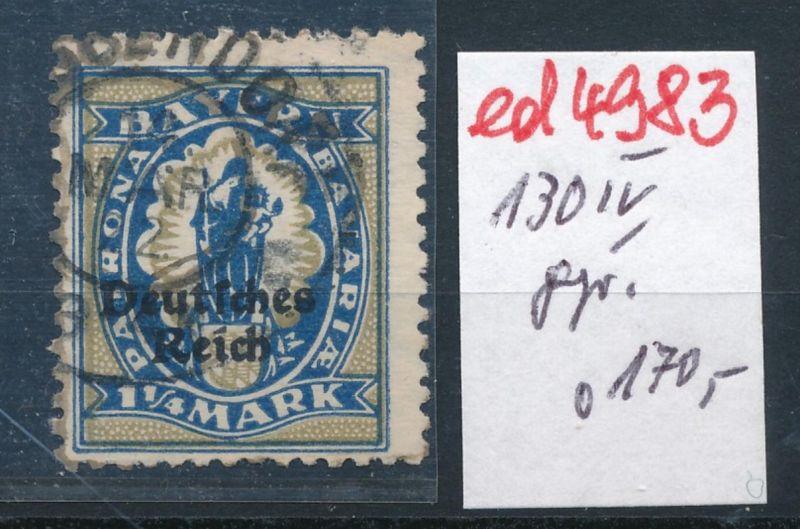 D.-Reich Nr.  130 IV   -o-   geprüft       (ed4983  ) siehe scan